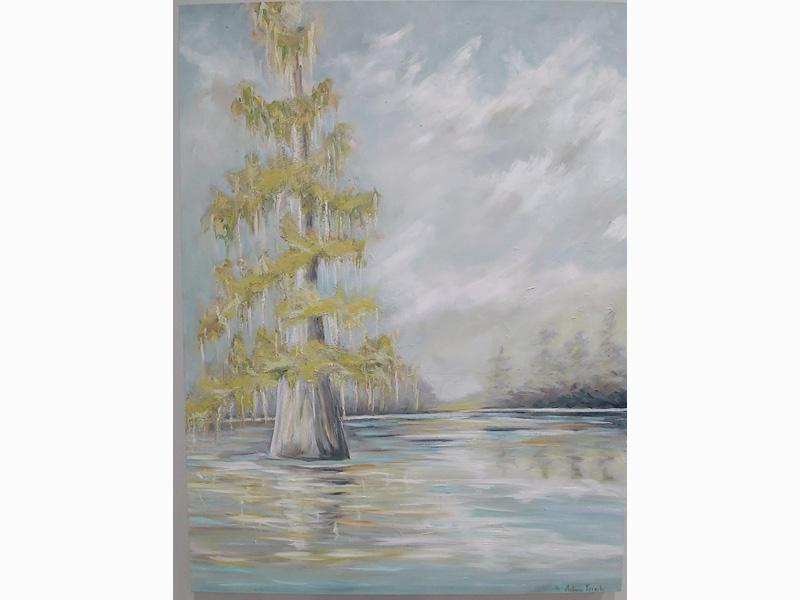 Big Gold Cypress Tree
